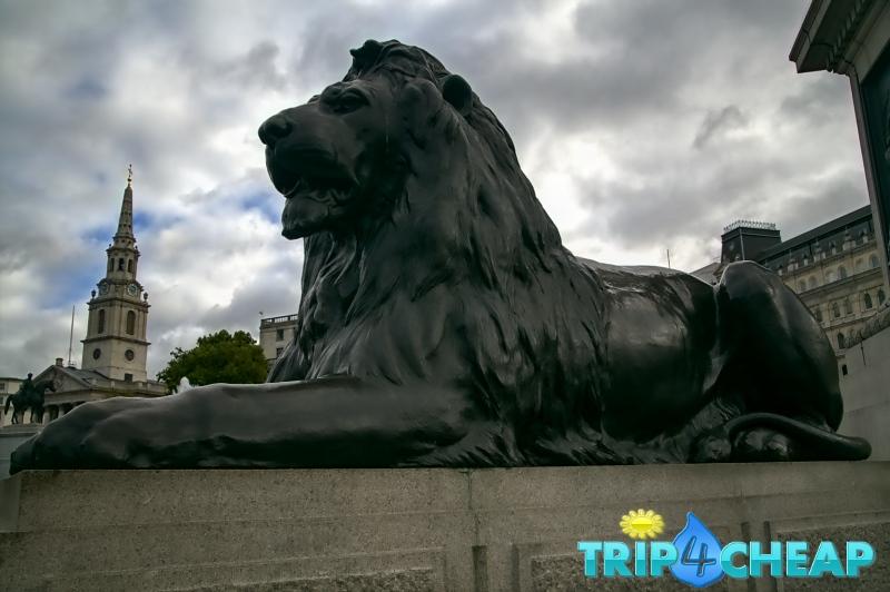 Rzeźba na Trafalgar Square-Londyn