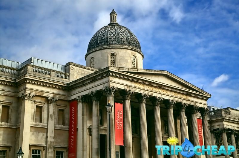 National Gallery na Trafalgar Square w Londynie