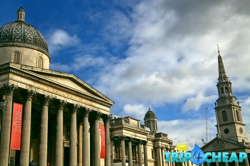 National Gallery na Trafalgar Square-Londyn