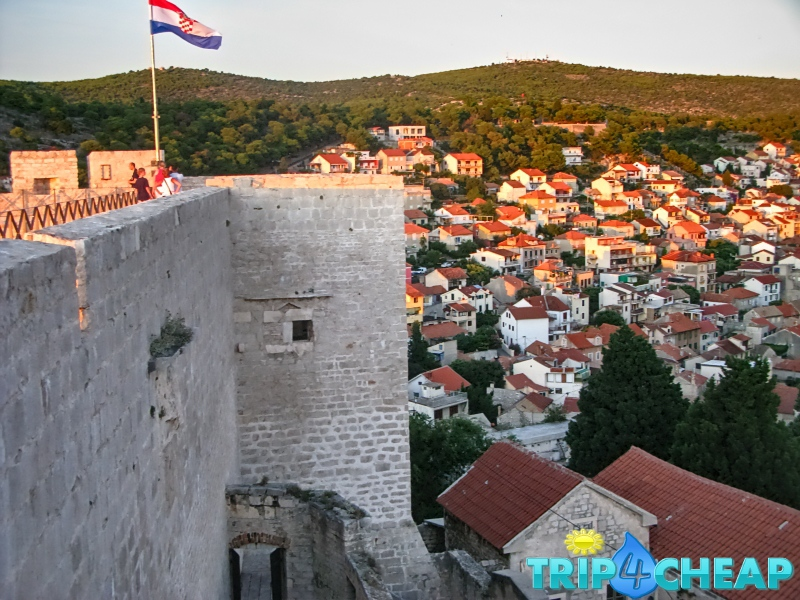 Widok-z-Twierdzy św. Anny-Sibernik-Chorwacja