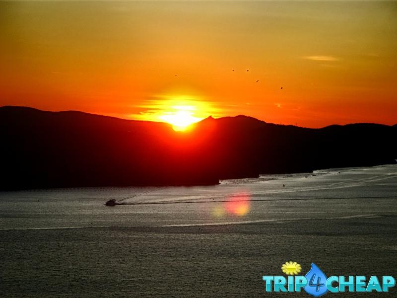 Zachód słońca w Sibernik-Chorwacja