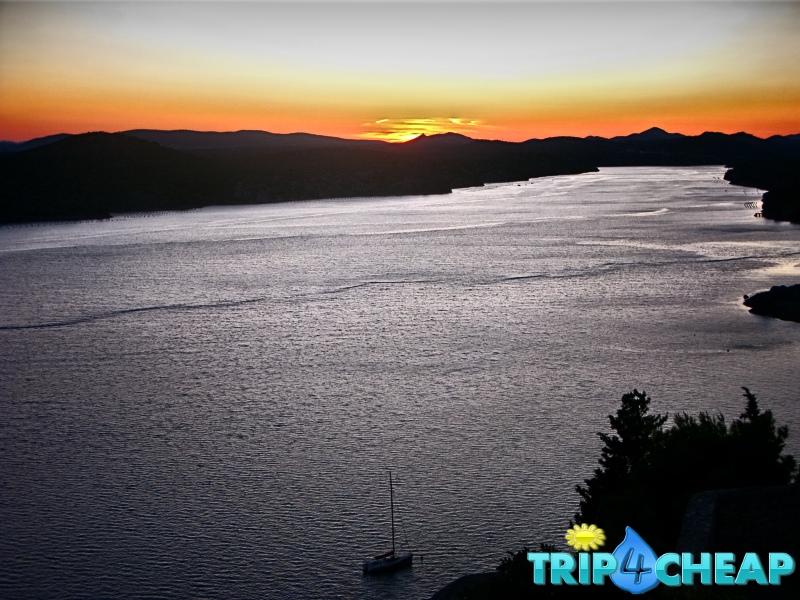 achód słońca w Sibernik-Chorwacja
