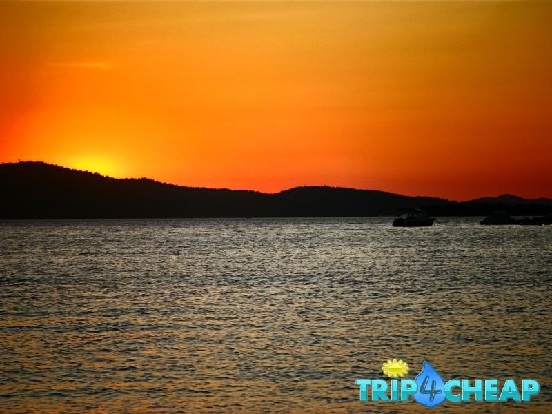 Zachód słońca-w Żaboric-Chorwacja