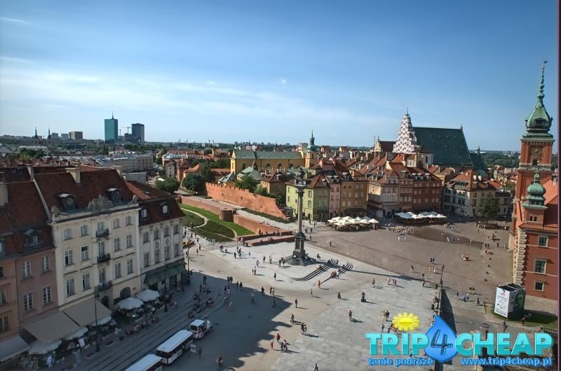 Widok z wieży widokowej-Warszawa