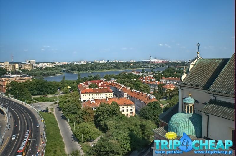 Widok-z wieży widokowej kościoła św Anny-Warszawa