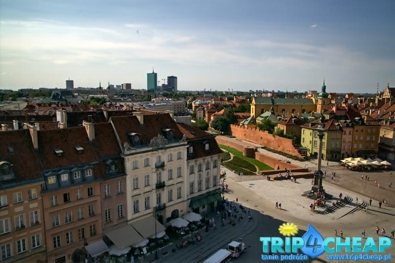 Widok z wieży widokowej w Warszawie