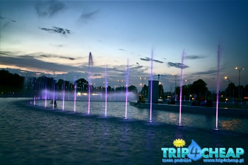 Pokaz fontann w Warszawie