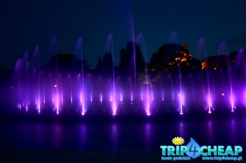 Wieczorny pokaz fontann-Warszawa