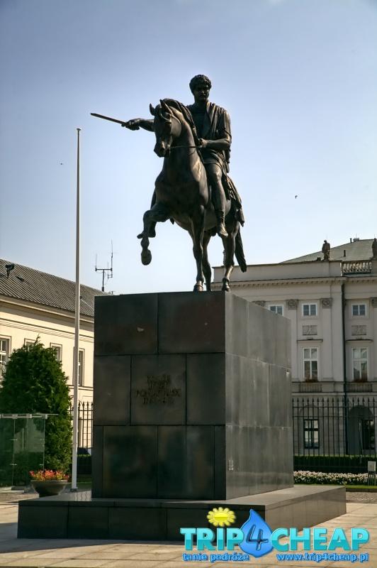 Pomnik przed Pałacem Przedenckim