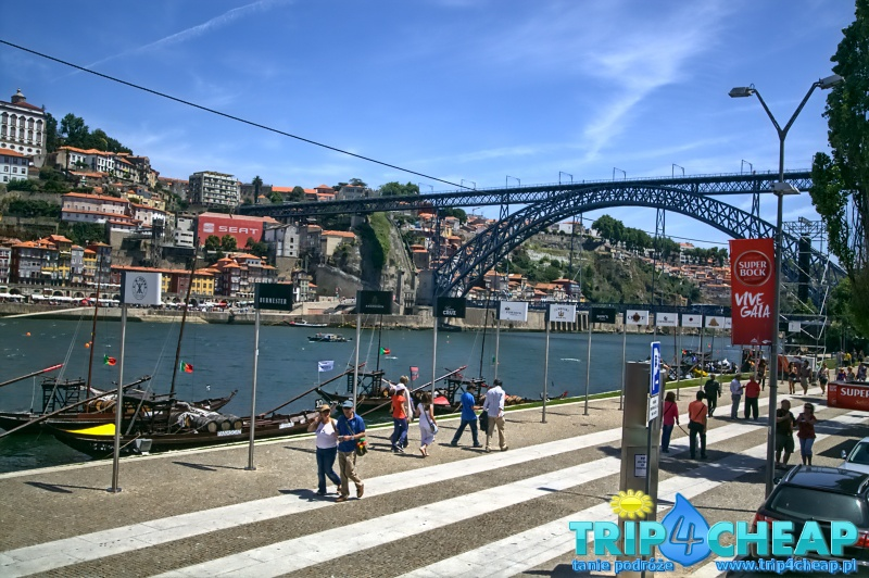 Widok na most Ponte Dom Luis I-Porto