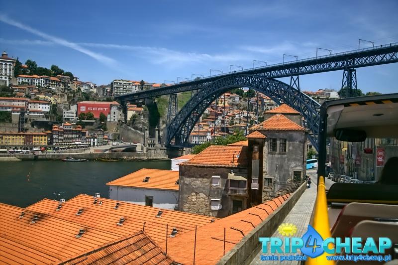 Widok most Ponte Dom Luis I-Porto