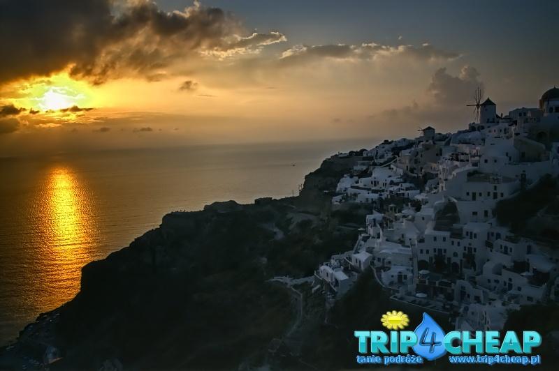 Oia zachód słońca, Santorini