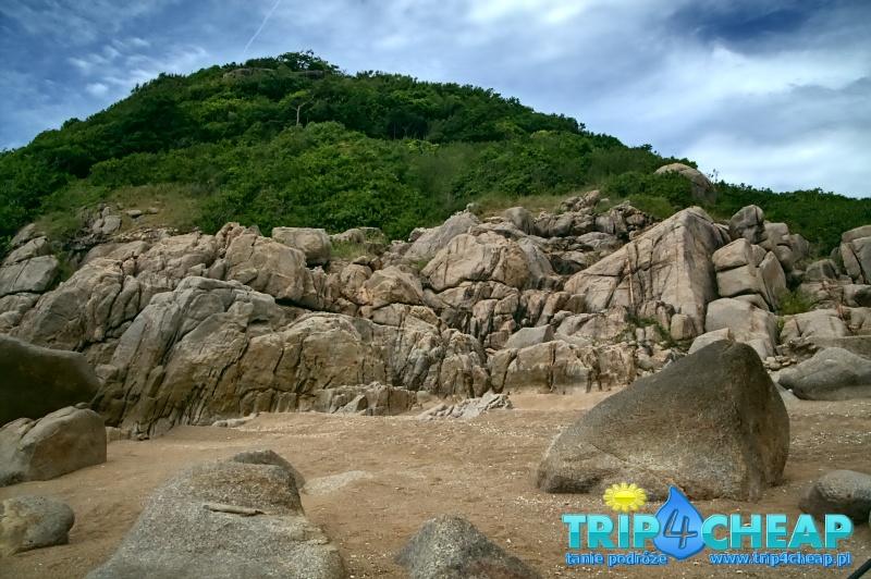 Skały na Lang Khaai Bay na Koh Tao w Tajlandii