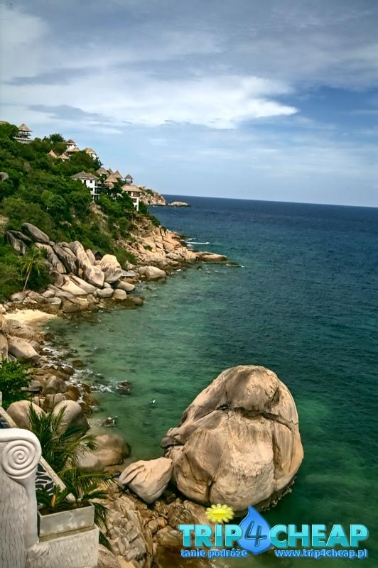 Widok na brzeg Koh Tao