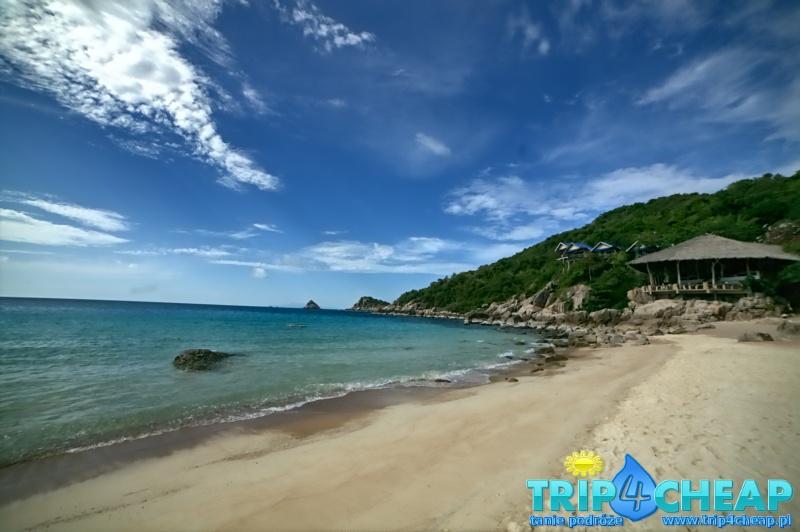 Plaża Ao Leuk w słońcu-Koh Tao