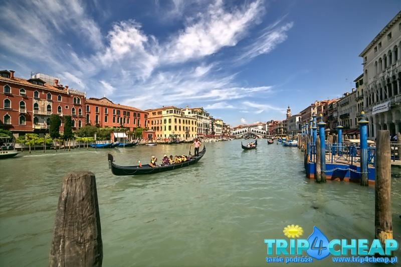 Kanał Grande i most Rialto w Wenecji, Włochy