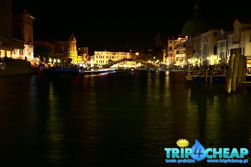 Włochy Wenecja nocą